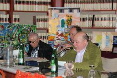 L'anchor-man Roberto Mattioli con Luca Filipponi ed il prof. Sandro Trotti