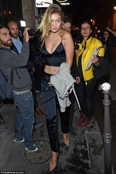 How low can she go? Gigi Hadid put on a very bold display when she stepped out in France o...