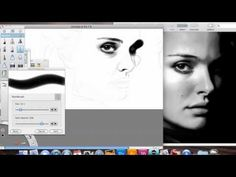 Natalie Portman Speed Drawing with Sketchbook Pro  Looking at a photo reference and drawing on Sketchbook Pro