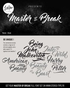 Free Font: Master of Break (440 KB) | freedesignresources.net | #free #font