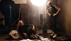 Louis Vuitton ad Leibovitz with her longtime friend Mikhail Baryshnikov.  Louis Vuitton luggage ad -  Annie Leibovitz and Mikhail Baryshnikov