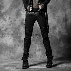 Gothic straps skinny jean - Punk Rave