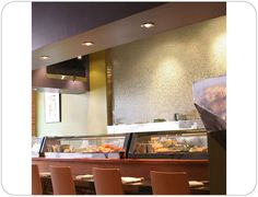 Another Sushi restaurant utilizing Hakatai Glass Tile to bring a calm, serene atmosphere to the dining area