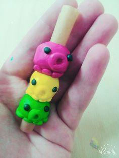 #Dreadschmuck #DIY #Fimo - inspired by #Dinowsdreadbead