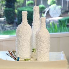 Winter Wonderland Bottle Decorations | AllFreeChristmasCrafts.com