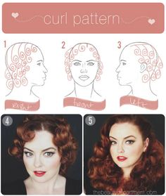 Vintage Pin Curls Diagram John Deere 1020 Wiring New Era Of 1940s Booklet With Lauren Bacall Inspired Hair Roller Set Placement Diagrams Wave Curl