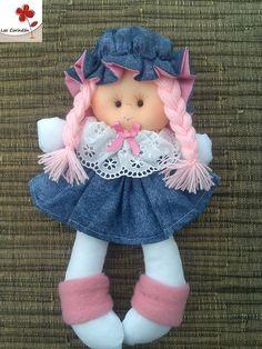 Muñecas grandes. Confeccionadas en tela de algodón y vellón siliconado