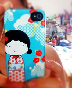 My new iphone case, printed with one of my digital illustrations.
