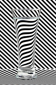 Striped Water Art Print by Steve Purnell #glass #walldecor