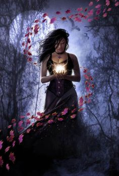 Witches spells images | Witch casting a magic spell - Barbara's Gothic and Fantasy Pictures