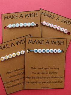 MERMAID WISH STRING Bracelet String Friendship Bracelet  Amulet Lucky Stocking Stuffer Wishing Make a Wish Karma Suerte Deseos by DengraDesigns on Etsy