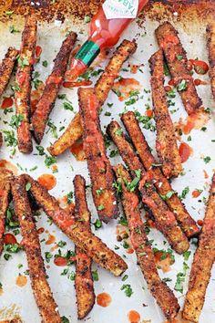 Sea Salt and Tomato Vinegar Eggplant Fries