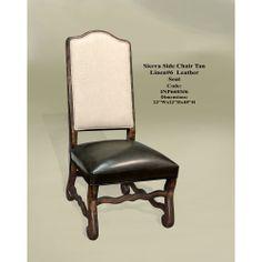 Sierra Side Chair RC Nat Linen Lea Seat