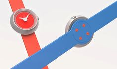 Red and Blue Rubber Straps of Gravitistic Watch Concept by Jaemin Jaeminlee