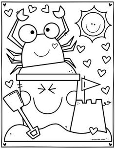 Summer Color By Number Worksheets | Summer coloring pages ... | 305x236