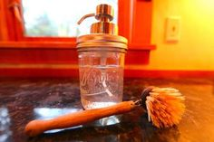 By Liesl Clark I've eyed the useful mason jar soap dispensers made by creative people and thought I'd try to make one myself. This DIY project takes a few … Kitchen Soap Dispenser, Mason Jar Soap Dispenser, Mason Jar Kitchen, Mason Jars, Sparkle Paper Towels, Pot Mason Diy, Liquid Soap, Jar Gifts, Craft Gifts