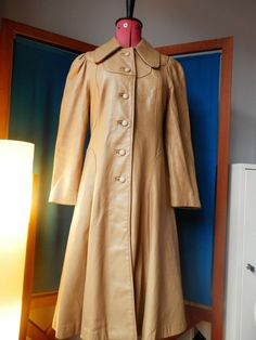RESERVED. 1960's Butterscotch Leather Coat by YesterdaysChildren69 Duster Coat, Raincoat, Trending Outfits, Unique, Leather, Jackets, Clothes, Etsy, Fashion