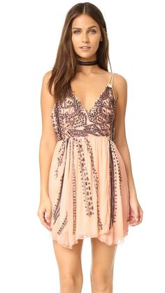 Free People Cassiopeia Embellished Mini Party Dress In Peach Dresses For Teens, Trendy Dresses, Nice Dresses, Short Dresses, Peach Dress Short, Short Mini Dress, Peach Dresses, Summer Dresses, Isabel Marant