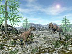 Archaeoceratops Dinosaurs - Render by Elenarts - Elena Duvernay Digital Art