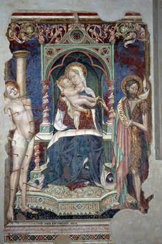 Salimbeni Lorenzo e Salimbeni Jacopo - Storie di Giovanni Battista, c. 1416. Oratorio di San Giovanni Battista (Urbino)