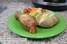 Slow cooker sweet & tangy pork ribs w/ lower sugar