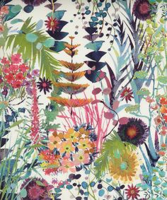Tresco C Tana Lawn, Liberty Art Fabrics.  Lovely bright colour combinations