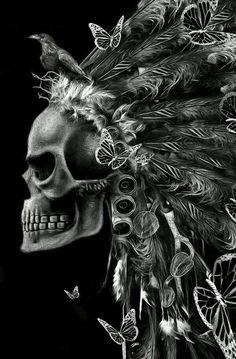 Skull/butterfly