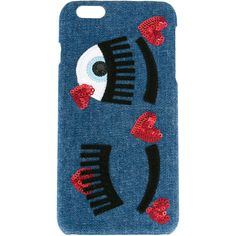 Chiara Ferragni eyes iPhone 6 plus case (1.080 ARS) ❤ liked on Polyvore featuring accessories, tech accessories, blue and chiara ferragni