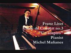▶ LISZT Un Sospiro Etude de Concert 3 D flat major - Pianist Michel Mananes - YouTube