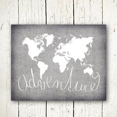 Gray world map poster large world map print modern home decor world map digital download neutral grey and white world map printable adventure sign monochrome last gumiabroncs Image collections
