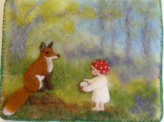 Needle felted picture by RosieNelsonCrafts on Etsy, £55.00