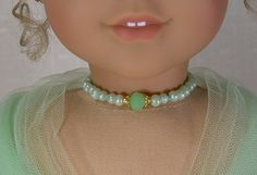 MINT GREEN NECKLACE for American Girl Dolls by idreamofjeannemarie