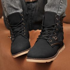 Boots casual shoes high boots male nubuck leather male martin boots the trend of fashion hip-hop shoes fashion $35.85
