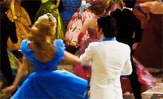 The Ball   Cinderella   Lily James and Richard Madden .gif
