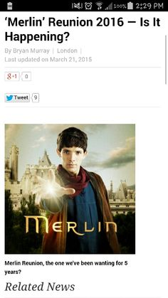 Merlin...? Coming back....? Is this for real?!?!?!