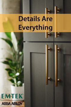 Emtek offers a wide variety of cabinet hardware styles to fit every home renovation project, from traditional to farmhouse to modern. There's no better way to give your cabinets a facelift than to install new jewelry that you'll touch and appreciate every Kitchen Redo, Kitchen And Bath, New Kitchen, Kitchen Remodel, Kitchen Design, Kitchen Ideas, Kitchen Cabinet Hardware, Kitchen Cabinets, Kitchen Knobs