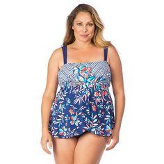 3839faccda6 Maxine Plus Size Flyaway Tankini One-piece Swimsuit - Tropical Trip. Plus  Size SwimsuitsWomen SwimsuitsSwim BottomsSoft Cup ...