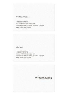 m5architects by Werklig, 2011. Scope: #branding & #businesscard #design