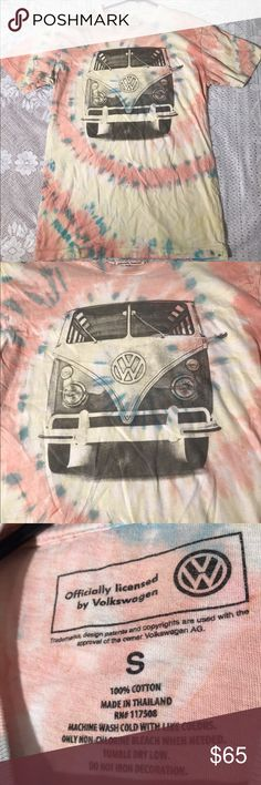 Rare Volkswagen Vintage Style Tie Dye Shirt Small In great used condition, official Volkswagen company shirt, size Small. Tie dyed, unique rare item, not sure if it's one of a kind, probably from late 90s? 100% Cotton. Volkswagen Shirts Tees - Short Sleeve