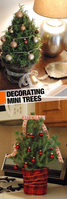Three Ways to Decorate Mini Trees