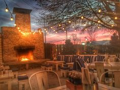 """""""Chilly night in the ATL. but luckily we have the fire going! Come cozy up with us. Maje, Atlanta, Tacos, Cozy, Restaurant, Night, Instagram Posts, Diner Restaurant, Restaurants"""