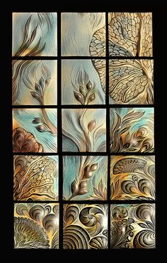 This seascape is for an elevator ~ isn't it gorgeous ~ you can feel the water moving through the seaweed and coral!