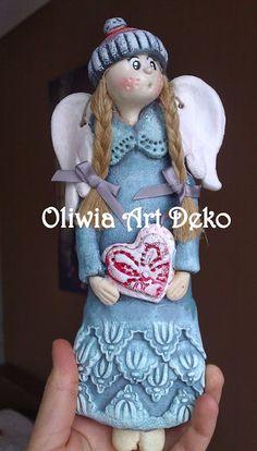 Oliwia Art Deko: Zimowe aniołki