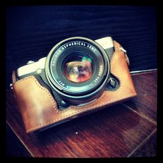 Cow leather case for Fujifilm X-E1 xe1 include leather full case and leather strap