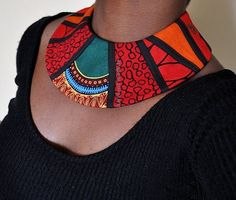Unique African Patchwork Collar Handmade fabric by…