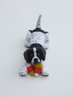 Pointer Dog Ornament Polymer Clay Sculpture by HeartOfClayGirl, $16.95