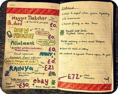 Moleskine planner, week 15