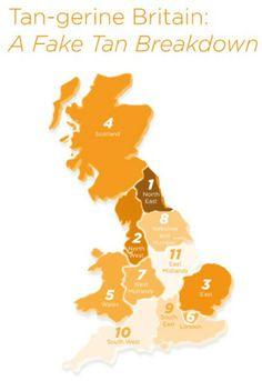 The fake-tan map of Britain - Hahaha I live in the dark brown bit!