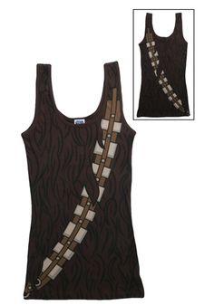 Women's Chewbacca Tank Top #StarWars #Gift #Idea