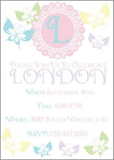 Pastel Butterfly Birthday Party PRINTABLE DIY